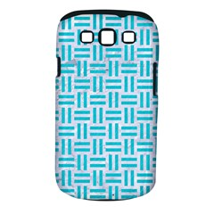 Woven1 White Marble & Turquoise Colored Pencil (r) Samsung Galaxy S Iii Classic Hardshell Case (pc+silicone) by trendistuff