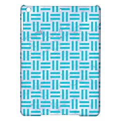 Woven1 White Marble & Turquoise Colored Pencil (r) Ipad Air Hardshell Cases by trendistuff
