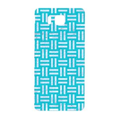 Woven1 White Marble & Turquoise Colored Pencil Samsung Galaxy Alpha Hardshell Back Case by trendistuff