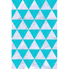 Triangle3 White Marble & Turquoise Colored Pencil 5 5  X 8 5  Notebooks
