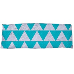 Triangle2 White Marble & Turquoise Colored Pencil Body Pillow Case Dakimakura (two Sides) by trendistuff