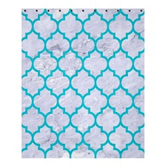 Tile1 White Marble & Turquoise Colored Pencil (r) Shower Curtain 60  X 72  (medium)  by trendistuff