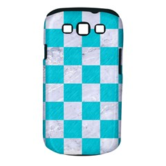 Square1 White Marble & Turquoise Colored Pencil Samsung Galaxy S Iii Classic Hardshell Case (pc+silicone) by trendistuff