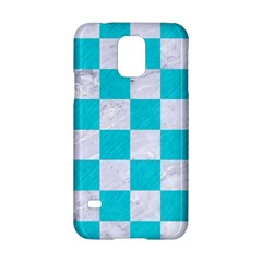 Square1 White Marble & Turquoise Colored Pencil Samsung Galaxy S5 Hardshell Case  by trendistuff