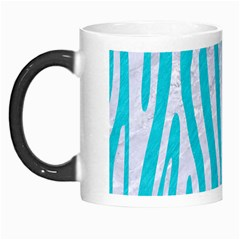 Skin4 White Marble & Turquoise Colored Pencil (r) Morph Mugs by trendistuff