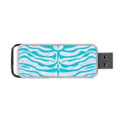 Skin2 White Marble & Turquoise Colored Pencil (r) Portable Usb Flash (two Sides) by trendistuff