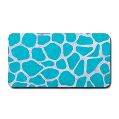 Skin1 White Marble & Turquoise Colored Pencil (r) Medium Bar Mats