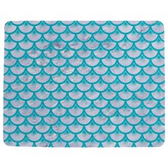 Scales3 White Marble & Turquoise Colored Pencil (r) Jigsaw Puzzle Photo Stand (rectangular) by trendistuff