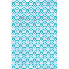 Scales2 White Marble & Turquoise Colored Pencil (r) 5 5  X 8 5  Notebooks by trendistuff