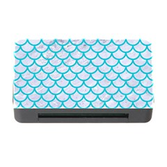 Scales1 White Marble & Turquoise Colored Pencil (r) Memory Card Reader With Cf by trendistuff