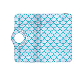 Scales1 White Marble & Turquoise Colored Pencil (r) Kindle Fire Hdx 8 9  Flip 360 Case by trendistuff