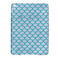 Scales1 White Marble & Turquoise Colored Pencil (r) Ipad Air 2 Hardshell Cases by trendistuff
