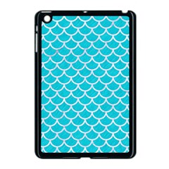 Scales1 White Marble & Turquoise Colored Pencil Apple Ipad Mini Case (black) by trendistuff