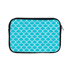 Scales1 White Marble & Turquoise Colored Pencil Apple Ipad Mini Zipper Cases