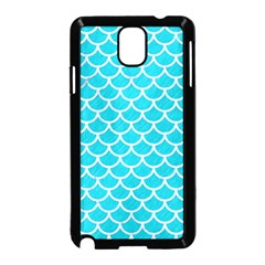 Scales1 White Marble & Turquoise Colored Pencil Samsung Galaxy Note 3 Neo Hardshell Case (black) by trendistuff