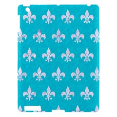 Royal1 White Marble & Turquoise Colored Pencil (r) Apple Ipad 3/4 Hardshell Case by trendistuff