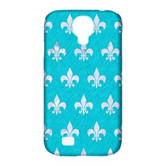 Royal1 White Marble & Turquoise Colored Pencil (r) Samsung Galaxy S4 Classic Hardshell Case (pc+silicone) by trendistuff