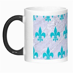 Royal1 White Marble & Turquoise Colored Pencil Morph Mugs by trendistuff