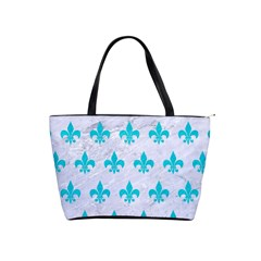 Royal1 White Marble & Turquoise Colored Pencil Shoulder Handbags by trendistuff