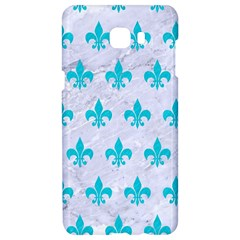 Royal1 White Marble & Turquoise Colored Pencil Samsung C9 Pro Hardshell Case