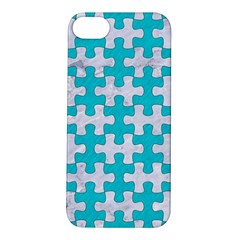 Puzzle1 White Marble & Turquoise Colored Pencil Apple Iphone 5s/ Se Hardshell Case