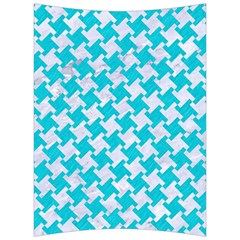 Houndstooth2 White Marble & Turquoise Colored Pencil Back Support Cushion by trendistuff