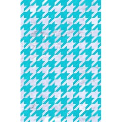 Houndstooth1 White Marble & Turquoise Colored Pencil 5 5  X 8 5  Notebooks