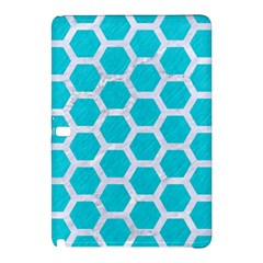 Hexagon2 White Marble & Turquoise Colored Pencil Samsung Galaxy Tab Pro 12 2 Hardshell Case