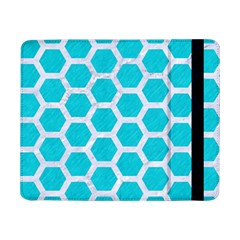 Hexagon2 White Marble & Turquoise Colored Pencil Samsung Galaxy Tab Pro 8 4  Flip Case by trendistuff