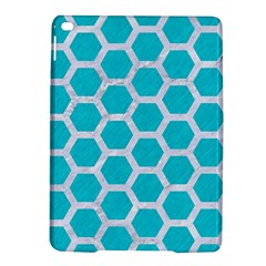 Hexagon2 White Marble & Turquoise Colored Pencil Ipad Air 2 Hardshell Cases by trendistuff