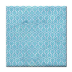 Hexagon1 White Marble & Turquoise Colored Pencil (r) Face Towel by trendistuff