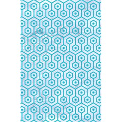 Hexagon1 White Marble & Turquoise Colored Pencil (r) 5 5  X 8 5  Notebooks by trendistuff