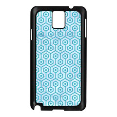 Hexagon1 White Marble & Turquoise Colored Pencil (r) Samsung Galaxy Note 3 N9005 Case (black) by trendistuff