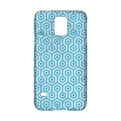 Hexagon1 White Marble & Turquoise Colored Pencil (r) Samsung Galaxy S5 Hardshell Case  by trendistuff