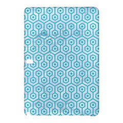 Hexagon1 White Marble & Turquoise Colored Pencil (r) Samsung Galaxy Tab Pro 12 2 Hardshell Case