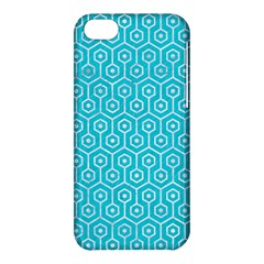 Hexagon1 White Marble & Turquoise Colored Pencil Apple Iphone 5c Hardshell Case by trendistuff