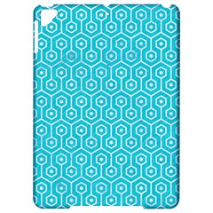 Hexagon1 White Marble & Turquoise Colored Pencil Apple Ipad Pro 9 7   Hardshell Case by trendistuff
