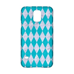 Diamond1 White Marble & Turquoise Colored Pencil Samsung Galaxy S5 Hardshell Case  by trendistuff