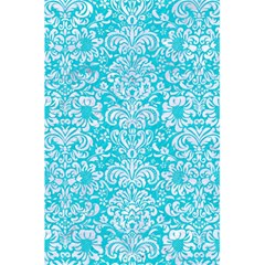 Damask2 White Marble & Turquoise Colored Pencil 5 5  X 8 5  Notebooks by trendistuff