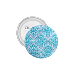 Damask1 White Marble & Turquoise Colored Pencil (r) 1 75  Buttons by trendistuff