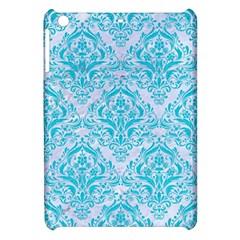Damask1 White Marble & Turquoise Colored Pencil (r) Apple Ipad Mini Hardshell Case by trendistuff