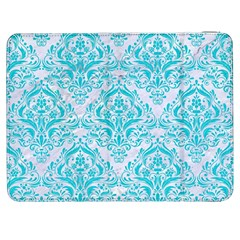 Damask1 White Marble & Turquoise Colored Pencil (r) Samsung Galaxy Tab 7  P1000 Flip Case by trendistuff