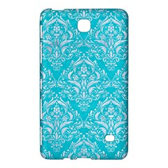 Damask1 White Marble & Turquoise Colored Pencil Samsung Galaxy Tab 4 (8 ) Hardshell Case  by trendistuff
