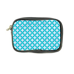 Circles3 White Marble & Turquoise Colored Pencil (r) Coin Purse by trendistuff
