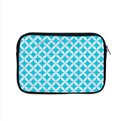 Circles3 White Marble & Turquoise Colored Pencil Apple Macbook Pro 15  Zipper Case by trendistuff