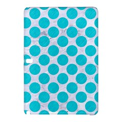 Circles2 White Marble & Turquoise Colored Pencil (r)encil (r) Samsung Galaxy Tab Pro 12 2 Hardshell Case