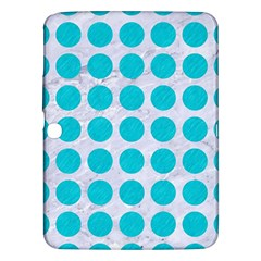 Circles1 White Marble & Turquoise Colored Pencil (r) Samsung Galaxy Tab 3 (10 1 ) P5200 Hardshell Case  by trendistuff