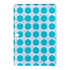 Circles1 White Marble & Turquoise Colored Pencil (r) Samsung Galaxy Tab Pro 12 2 Hardshell Case