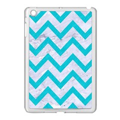 Chevron9 White Marble & Turquoise Colored Pencil (r) Apple Ipad Mini Case (white) by trendistuff