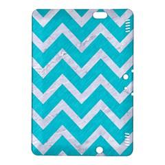 Chevron9 White Marble & Turquoise Colored Pencil Kindle Fire Hdx 8 9  Hardshell Case by trendistuff